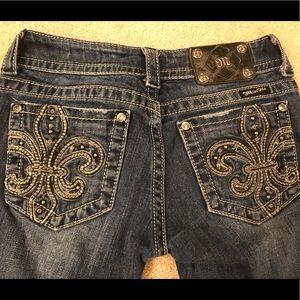 Womens Miss Me Jeans Fleur Dark Boot Cut Size 26